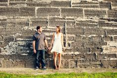 Alex & Cammy Photography www.alexandcammy.com St. Augustine Engagement Shoot Fort engagement shoot Wall Jacksonville photos session pictures beautiful unique destination wedding