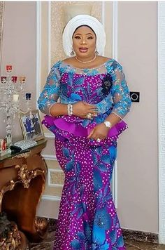 Pretty Perfect Plus Size Aso-Ebi Styles - Reny styles Latest African Fashion Dresses, African Dresses For Women, African Print Dresses, African Print Fashion, Africa Fashion, African Attire, African Prints, African Outfits, Ankara Fashion
