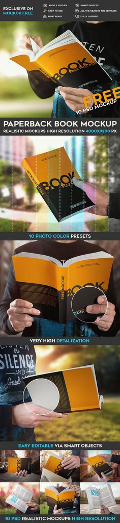 10 Free Paperback Book PSD Mockups | Free PSD Templates | #free #photoshop #mockup #psd #paperback #book