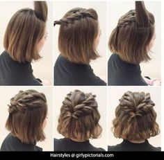This idea of Hairstyles for short hair is simply fantastic. Girls with short hair need not to worry anymore this simple hairstyle gives their personality a charm & they look splendid. Must try this! More @ http://girlypictorials.com/
