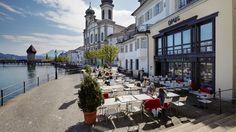 Die 10 Lieblingsorte der Style Redaktion in Luzern Street View, Restaurant, Travel, Trips, Contemporary, Editorial Board, Lucerne, Switzerland, Places
