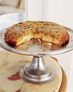 Just wanted to share this delicious recipe from Lidia Bastianich with you - Buon Gusto! Crostata Invertita with Rhubarb