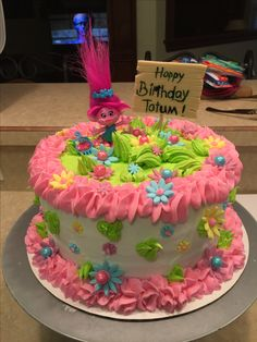Trolls Birthday cake I made