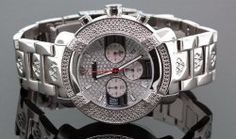 Aqua Master Mens Diamond Watch #96-20 Power Model