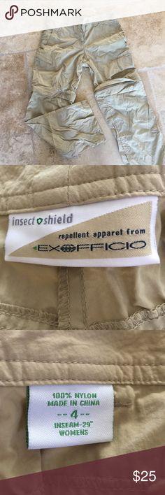 Safari pants Exoficio insect shield khaki pants with zip off leg. Perfect for outdoor hiking. Exofficio Pants