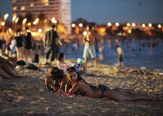 Enjoying a balmy night out Melbourne House, St Kilda, City Beach, New Life, Australia, Beautiful, Destinations, Goals, Spaces