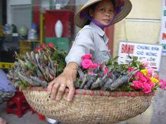 ハノイ、 2004年、 花売り娘