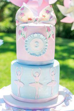 Ballerina Birthday Party via KarasPartyIdeas.com : The Cake