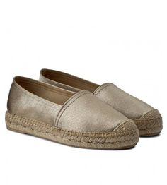Espadrile aurii dama cu talpa groasa din satin Loafers, Satin, Shoes, Fashion, Travel Shoes, Moda, Zapatos, Moccasins, Shoes Outlet