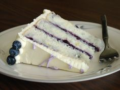 Lemon Blueberry Cake Somebody make me this because there's no way I am doing that work (but it sounds so good.) lol