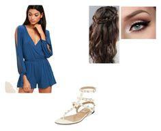 """""""Romper"""" by tatyan45 ❤ liked on Polyvore featuring LULUS, Valentino, cute, pretty and polyvoreeditorial"""