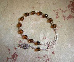 Demeter Prayer Bead Bracelet: Greek Goddess of Grain, the Harvest, the Seasons, and the Afterlife by HearthfireHandworks on Etsy