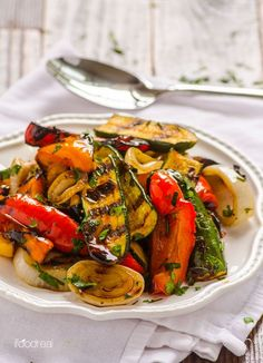 Grilled Balsamic Vegetables -- This recipe is a sure crowd pleaser and tastes delicious at any temperature, even better the next day. No marinating required and use any firm vegetables you have got on hand.