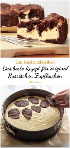 The best recipe for original Russian ZUPFKUCHEN- Das beste Rezept für original RUSSISCHEN ZUPFKUCHEN Who can resist this tasty combination of chocolate and cheesecake? Here is the best recipe in the world … bake zupfkuchen - Easy Cake Recipes, Cupcake Recipes, Cookie Recipes, Snack Recipes, Food Cakes, Brownies Oreo, Fingers Food, Fall Desserts, Cheesecake Recipes