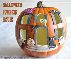 halloween foam pumpkin house