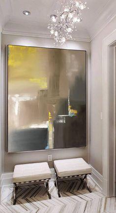 Gran Resumen óleos grandes pared arte pared decoración pintura