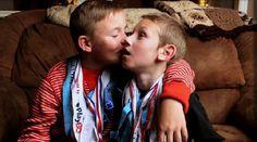 These brothers have an inspiring story of sportsmanship and love. (Click for video)
