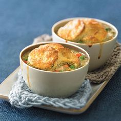 Biscuit-topped Chicken Potpies - 27 Great Chicken Recipes  - Sunset
