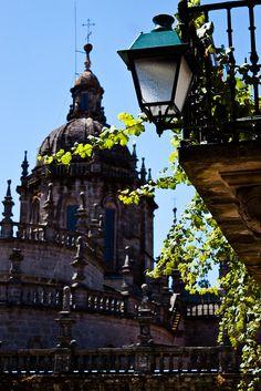 llum a la catedral Santiago de Compostela Galiza  Spain