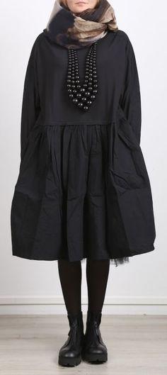 rundholz black label - Kleid in Blusenform Cotton Jersey black - Winter 2017