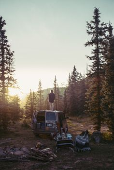 | ROAR VIBE LONDON | (photo by Theo Gosselin on Flickr) Forest Camping. Pin via - https://www.flickr.com/photos/46799990@N04/22778816313/