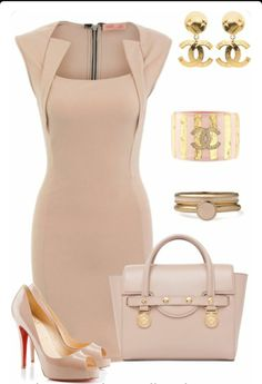Put on the elegant nude dress - Page 3 of 5 - dona.gr - Put on the elegant nude dress – Page 3 of 5 – dona. Mode Outfits, Fashion Outfits, Womens Fashion, Fashion Trends, Fashion 2017, Fashionista Trends, Club Fashion, Woman Outfits, Trending Fashion