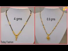 Latest Gold Mangalsutra Designs With Weight