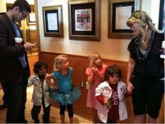 Too cute. James Scott and Alison Sweeney (Ejami) with the two sets of twins who play the one set of twins (Johnny Dimera and Allie Horton). Days of Our Lives