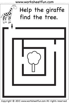 Preschool and Kindergarten – Mazes / FREE Printable Worksheets – Worksheetfun Mazes For Kids Printable, Printable Preschool Worksheets, Preschool Learning Activities, Free Preschool, Worksheets For Kids, Kindergarten Worksheets, Kids Mazes, Tracing Worksheets, Maze Worksheet