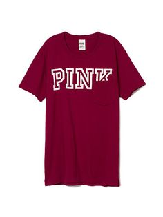 Campus Pocket Tee PINK