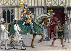 Robert Stuart, Seigneur d'Aubigny leads his Scottish archers into Paris,1515.