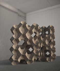 #Brickworks (2010) // Chipboard // 0.40m x 0.40m x 0.40m (Module size) // Daniel Widrig - #wall #modular #pattern #computation