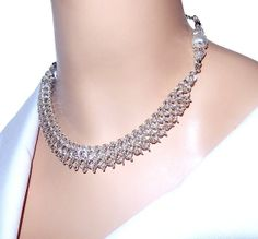 Chainmaille necklace beaded necklace beaded by NezDesigns on Etsy, $50.00