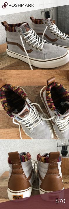 Vans sk8 Hi Mountain Series Women's size 8.5 Vans High tops (limited edition) worn twice and in great condition. Suede with faux leather and tribal print accents. Scotchguard weather protector. Vans Shoes Sneakers
