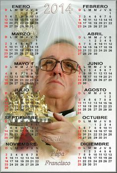GIFS DE CALENDARIOS: Papa Francisco 2014