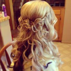 Wedding hair by me!
