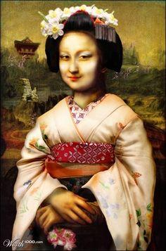 Geisha Mona Lisa . . . Mona Lisa : More Pins Like This At : FOSTERGINGER @ Pinterest.
