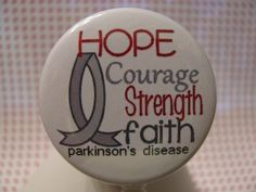 Parkinsons Awareness ID Badge Reel Holder Retractable Reel with FREE Hope Charm by sparklinghope on Etsy https://www.etsy.com/listing/246265104/parkinsons-awareness-id-badge-reel