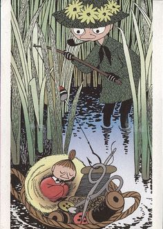 Snufkin and little My - brother and sister - Moomin Valley - Tove Jansson, Finland Little My Moomin, Tove Jansson, Art And Illustration, Les Moomins, Moomin Valley, Cecile, Children's Literature, Art Inspo, In This World