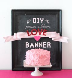 DIY Paper Ribbon Banner by Damask Love! Paper Ribbon via The TomKat Studio Shop