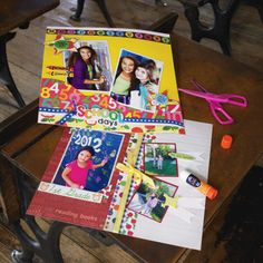 School Days Scrapbook Page