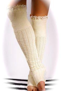 Leg Warmers Boot Socks Crochet lace boot by MaidenLaneBoutique