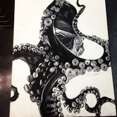 Scratchboard - art project finished at three in the morning ;)