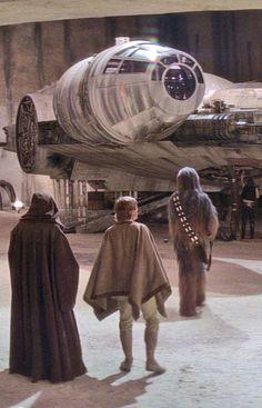 Obi-Wan, Luke Skywalker, Chewbacca and Han Solo - Star Wars