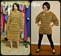 A quick & easy No-Sew Tunic:  Take advantage of the details!
