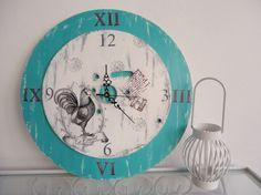 RELOJ DE PARED - Vintage y Reciclado - Casa - 397099 Clock Art, Diy Clock, Wall Watch, Oclock, Vintage Shabby Chic, Art Nouveau, Decoupage, Decorative Plates, Country