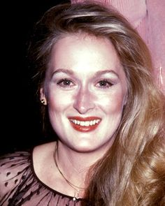 Meryl Streep, 1979  For her first of many trips to the Clean look - Streep let her soft blond hair, natural flush, and inimitable acting chops do all the talking.