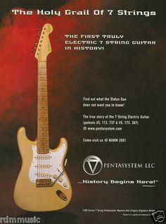 7-string Fender '88 Stratocaster Maestro Alex Gregory Signature Guitar