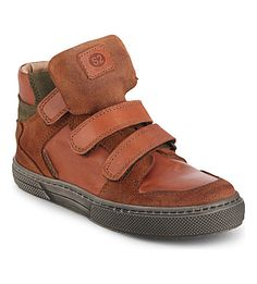 STEP2WO Leather and suede high-top trainers 6-11 years (Tan leather