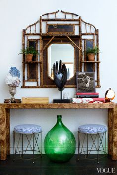 stools -- APARTMENT BLUES | Mark D. Sikes: Chic People, Glamorous Places, Stylish Things